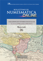 Bollettino di Numismatica on line - Materiali, n. 26-2015