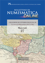 Bollettino di Numismatica on line - Materiali, n. 27-2015