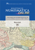 Bollettino di Numismatica on line - Materiali, n. 16-2014
