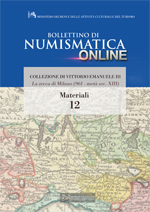 Bollettino di Numismatica on line - Materiali, n. 12-2013