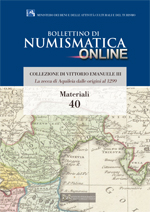 Bollettino di Numismatica on line - Materiali, n. 40-2016