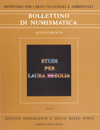 Supplemento al n. 4 - STUDI PER LAURA BREGLIA - Roma 1987